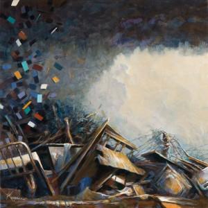Debby Kaspari, Rise, acrylic, 12 x 12.