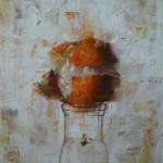 Matthew Saba, Degrassi, oil, 8 x 9.