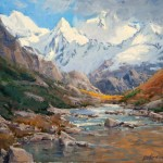 Tim Deibler, High in the Himalayas, oil, 16 x 20.