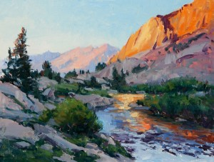 Tim Deibler, Sierra Sunset, oil, 12 x 16.