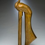 Diana Reuter-Twining, Peacock, bronze sculpture at Western Visions.