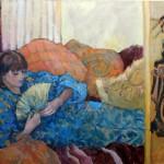 Connie Dillman, Influences, acrylic, 36 x 48.