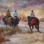 Connie Dillman, Morning Ride, acrylic, 18 x 24.