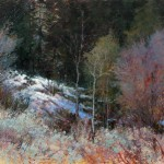 Jerolyn Dirks, Edge of Winter, oil, 30 x 40.