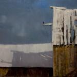 Jerolyn Dirks, December Sky, oil, 12 x 16.
