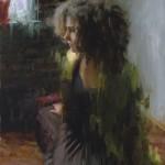 Mia Bergeron, Disperse, oil, 30 x 20.