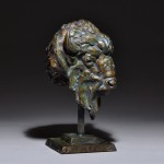 Mick Doellinger, Totem, bronze sculpture