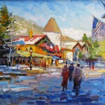 Don Sahli, Winter Colors of Vail, oil, 20 x 24.