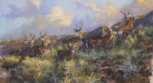 Terry Donahue, Autumn Excursion, pastel, 22 x 38.