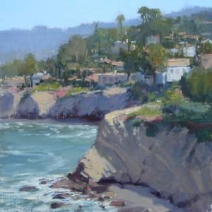 Kathleen Dunphy, Coastal Trail-LaJolla, oil, 12 x 12.