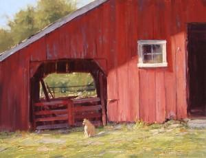 Kathleen Dunphy, Mouser, oil, 14 x 18.