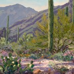 Carol Swinney, Evening in the Catalinas, oil, 11 x 14.