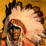 John Moyers, Eagle Feathers, oil, 12 x 12.