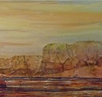 Lelija Roy, Early Launch, mixed media, 12 x 48.