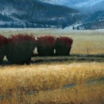 Seth Winegar, Early Park City Morning, oil, 12 x 24.