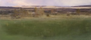 East Pasture, oil on panel, 16 x 36.