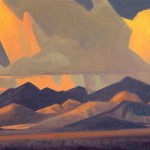 Ed Mell, McDowell Mountain Range, oil, 8 x 16.