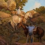 David Griffin, Eden Under a Blue Sky, oil, 30 x 24.