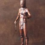 Star York, Elk Dreamer, bronze, 30 x 9 x 8.