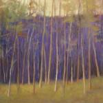 Purple Presence, pastel, 14 x 14.