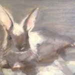 Beverly Endsley, Oliver Catching Rays, oil, 9 x 12.