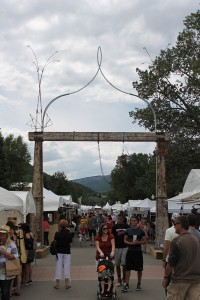 Entrance sculpture from the 2012 Crested Butte Arts Festival.