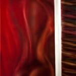 Ethan White, Third Door, aluminum/patina, 32 x 20.