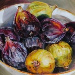 Ethelinda, Figs, oil painting