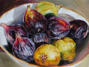 Ethelinda, Figs, oil, 36 x 48.