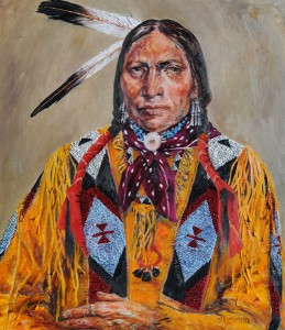 Ethelinda, The Arapaho, oil, 30 x 26.