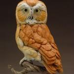 Eugene Morelli, Nightwatch, bronze, 13 x 7 x 6.
