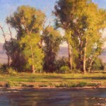 Greg Scheibel, Evening in June, oil, 24 x 36.