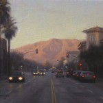 Ezra Suko, Pasadena Evening Light, oil, 8 x 10.