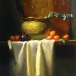 Kelli Folsom, Clementines and Eucalyptus, oil, 20 x 16.