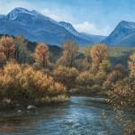 Kasey Nixon, Fall on the Little Blackfoot River, oil, 16 x 20.