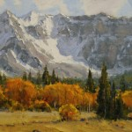 Dan Young, Fall Near Telluride, oil, 10 x 12.