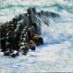 Elizabeth Pollie, Falling To Heaven, oil, 6 x 6.