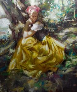 Kevin Beilfuss, Far Away, oil, 24 x 20.
