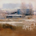Farm Buildings - Cache Valley, oil on panel, 7 x 7.