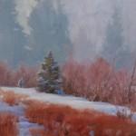 J. Chris Morel | February Mist, oil, 16 x 20.