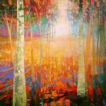 Mark Gould, Finding My Path: Arcadian 1939, acrylic, 48 x 64.