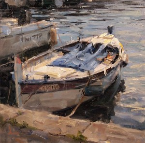 Derek Penix, Fishing Boat, oil, 12 x 12.