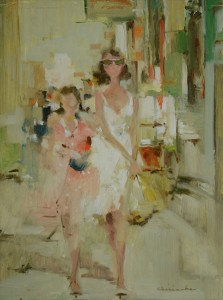 Ernest Chiriacka, Florence, oil, 30 x 24.