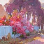 Camille Przewodek, Flowers at Sunset, oil, 8 x 10.