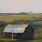 Brett Scheifflee, Floyd's Farm, oil, 12 x 6.