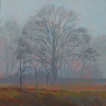 Mark Mehaffey, Foggy Day, acrylic painting