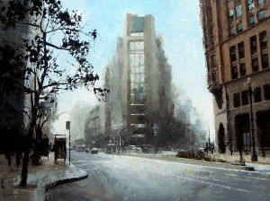 David Cheifetz, Fortress, oil painting