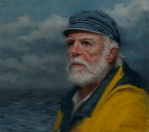 Ann Kraft Walker, Four Months at Sea, oil, 16 x 18.