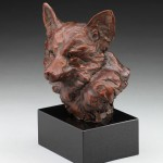 Fox Bust, bronze, 12 x 9 x 7.