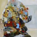 Britt Freda, Ursus Horribilis, acrylic/graphite, 40 x 30.